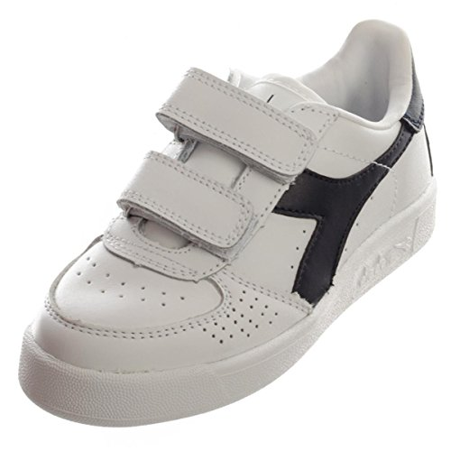 Diadora B Elite Jr, Sneaker Bas du Cou Mixte Enfant White/Blue Denim/Blue Den
