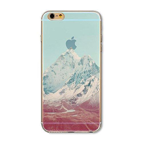 Coque iPhone 5 5s SE Housse étui-Case Transparent Liquid Crystal en TPU Silicone Clair,Protection Ultra Mince Premium,Coque Prime pour iPhone 5 5s-Paysage-style 5 6