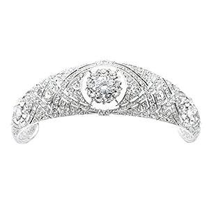 Sepbridals Österreichische Kristalle CZ Meghan Prinzessin Hochzeit Brautschmuck Tiara Krone Diadem Haar Zubehör hg078 …