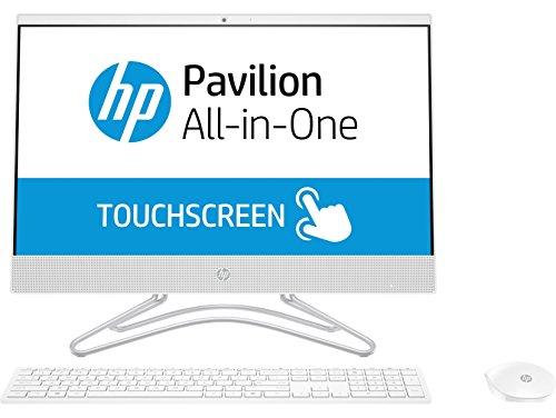 HP 22-c0217ns - All in One - Ordenador de sobremesa 21.5' FullHD (Intel Celeron J4005, 4GB RAM, 1TB HDD, Intel Graphics, FreeDos), Color Blanco, con Teclado QWERTY Español y Ratón