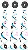 Beistle - 50074 - Rock And Roll Whirls - Pack of 6