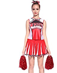 Cheerleader Uniform Kostuem High school Cheer Leader Cheerleading Mini Rock Glee Karneval Faschingkostuem Schoolgirl