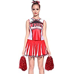 Cheerleader Uniform Kostuem High school Cheer Leader Cheerleading Mini Rock Glee Karneval Faschingkostuem Schoolgirl
