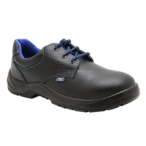 Allen Coope AC7005 Genuine Leather Black Low Ankle Safety Shoes For Men (Box 1, 9) image - Kerala Online Shopping