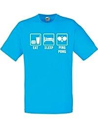 Eat Sleep Pong, Hommes T-shirt Imprimé