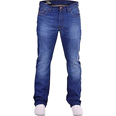 Firetrap Mens Hardwearing Durable Quality Straight Leg Regular Fit Relaxed Denim Jeans