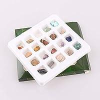 AITELEI - Juego de 20 piezas de colección educativa de roca natural y mineral, en caja de la colección Rock Science Stone Collection, geología, gemas para niños en una caja expositora