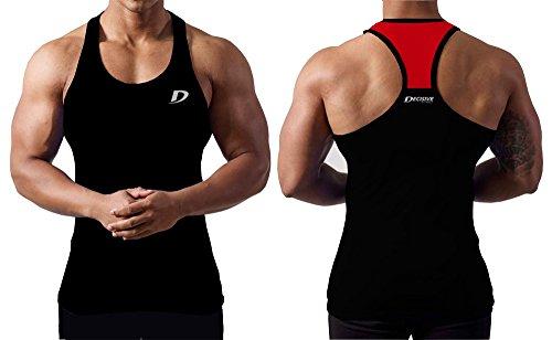 Decisive Fitness Débardeur bi-tons en tissu respirant pour homme 4a27f84c0f0