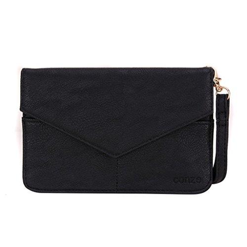 Conze da donna portafoglio tutto borsa con spallacci per Smart Phone per Huawei Ascend G610 Grigio grigio nero
