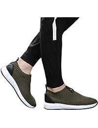 Zapatos de hombre JiaMeng Suave Respirable Moda Zapatillas de Deporte Transpirables de Moda Zapatos Casuales Zapatillas Deportivas Calzado Deportivo Ponerse Zapatos