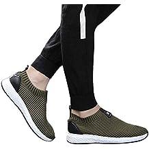 Zapatos de hombre JiaMeng Suave Respirable Moda Zapatillas de Deporte Transpirables de Moda Zapatos Casuales Zapatillas