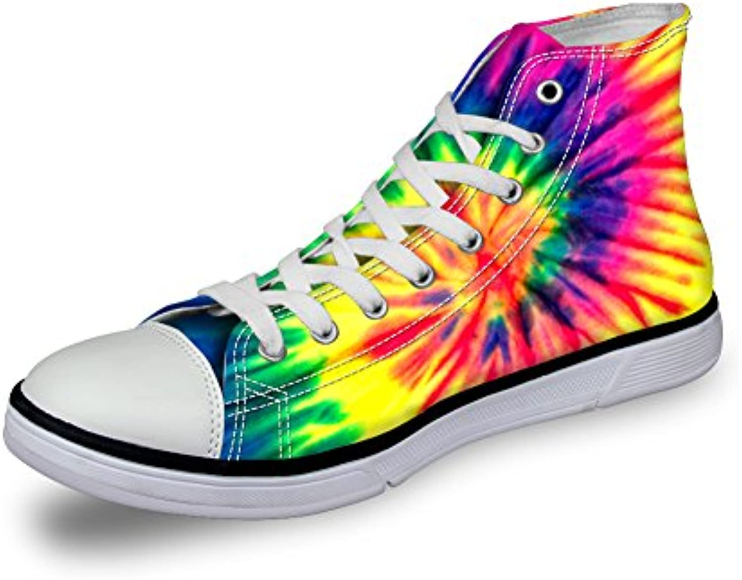 bc2a9181deee Showudesigns colorful Flower Women High Top Top Top Canvas Shoes Spring  Walking Sneaker B078CY6GV3 Parent ec1021