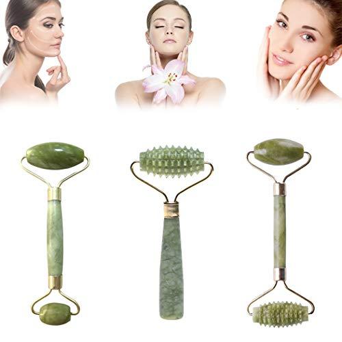 Rodillo de jade masajeador facial para rostro