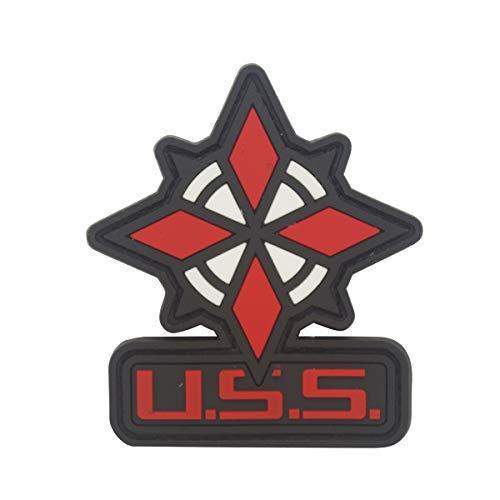 Cobra Tactical Solutions Military PVC Patch Umbrella Security Service USS Schwarz Resident Evil mit Klettverschluss für Airsoft/Paintball für Taktische Kleidung/Rucksack