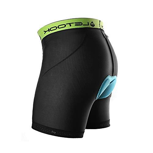 Letook Fahrrad Unterhosen Herren 3D Gepolstert Atmungsaktiv Unterwäsche Shorts für Radunterhose Radsport FahrradHosen Männer L