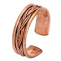 iCraftJewel 100% Pure Copper Ring Bio Healing Pain Reliever Fashionable Thumb Ring for Men, Women