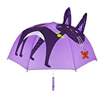 Kids Umbrella,Childrens Rain Umbrella for Boy and Girl with 3D Ears, Cat