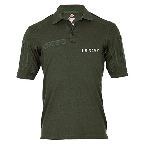 Tactical Poloshirt Alfa - Us Navy USMC Amerika USA Marine Corps Dienst Hemd Polo #19088, Größe:4XL, Farbe:Oliv -