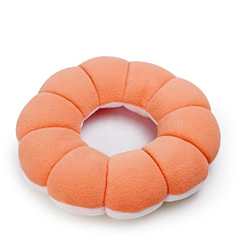L-förmige Speicher (L BlumenföRmiges Donut Kissen GesäßKissen , Orange)