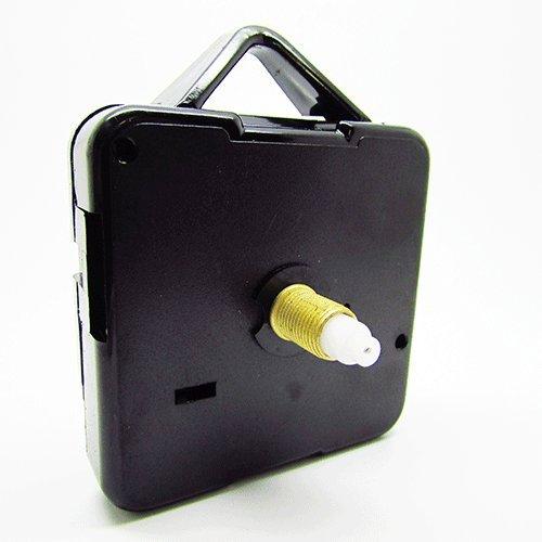Dans Clock Shop, meccanismo di ricambio per orologio da parete, al quarzo, silenzioso, varie misure, plastica, Black, Medium - 10mm Gold Thread - Total 17mm