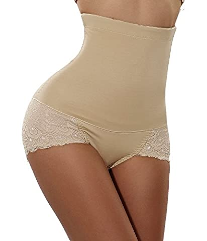 Hips Curves,Invisable Body Shaper Waist Tummy Control Butt lifter Panty Slim (Large, Beige(Thigh