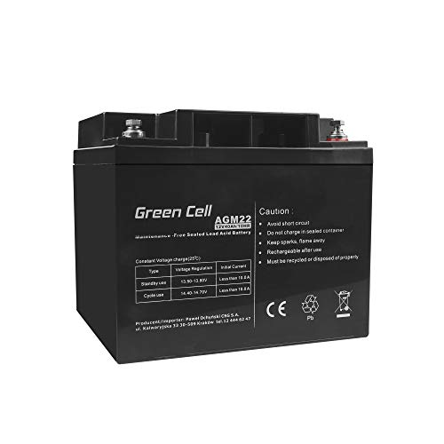 Green Cell® Akku Batterie AGM (12V 40Ah VRLA Faston B4)
