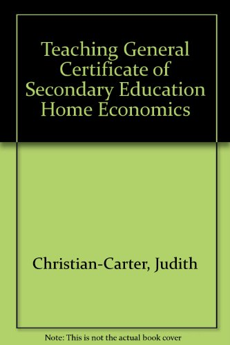 Teaching General Certificate Of Secondary Education Home Economics Pdf Download