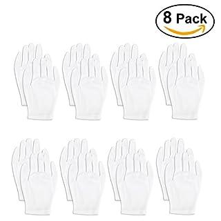 Foxnovo Weiche, leichte Handhabung-Handschuh, Handschuh, Handschuh Displayschutzfolie Arbeiten, 8-er-set (White)