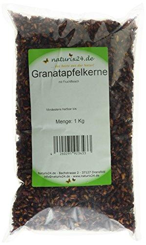 Naturix24 Granatapfelkerne mit Fruchtfleisch – Beutel, 1er Pack (1 x 1 kg)