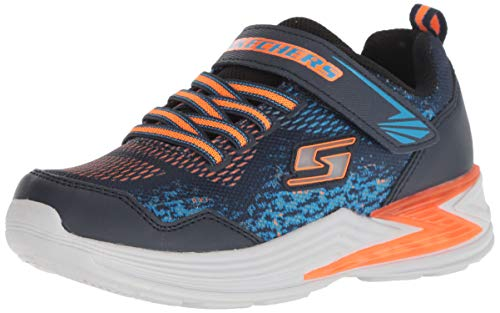Skechers Erupters III-Derlo, Zapatillas para Niños, Azul (Navy Mesh/Synthetic/Orange & Blue Trim Nvor), 27 EU