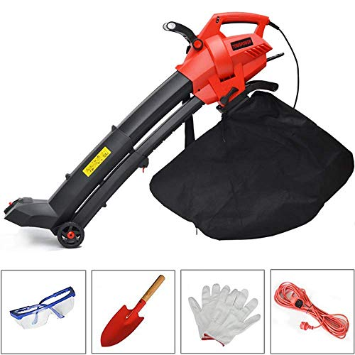 Ankeo Garden Vacuum & Mulcher - 35 Litre Collection Bag, 3 In 1 Leaf Blower -3000W,15:1 Shredding Ratio, Automatic Mulching Compacts Leaves In Bag And10m Cable