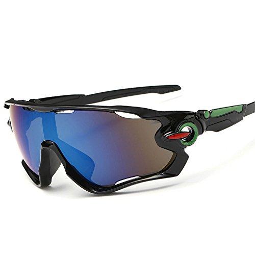 Kry gafas de sol para deportes, UV400, para conductor, de golf, para hombre, Golf, Pesca, Montura de metal irrompible, hombre, color negro y azul, tamaño 145mm * 50mm * 122mm