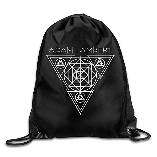 DHNKW Adam Lambert Logo Drawstring Backpack Sack Bag -
