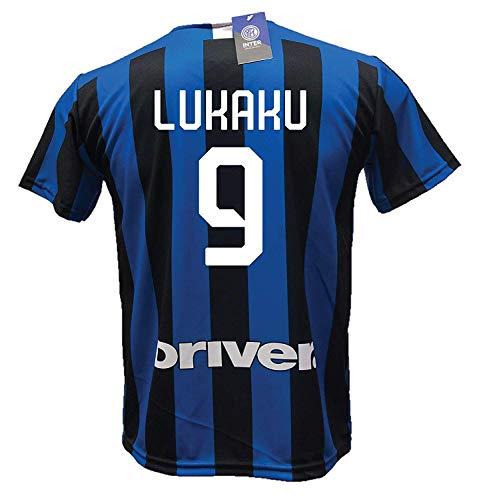 LC SPORT SRL Camiseta Inter ROMELU LUKAKU 9 Réplica Autorizada 2019-2020 Niño Talla-Años 2 4 6 8...