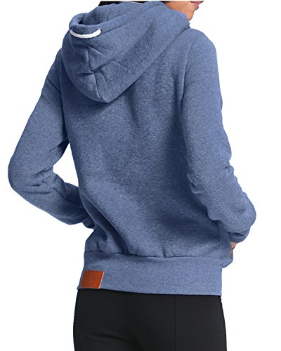 StyleDome Winter Damen Hoodies Pullover Langarm Jacke Top Sweatshirt Pullover Tops Jumper Blau333850 XL - 2