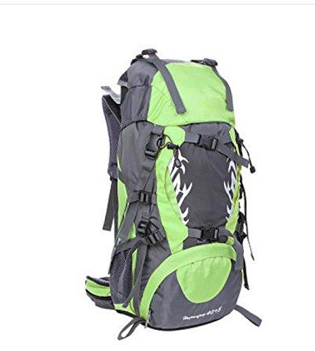 Zaini Per Lo Zaino Interno Sportivo Ad Alta Capacità Outdoor Waterpack Resistant Daypacks Climbing Pack,Yellow Green