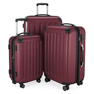 HAUPTSTADTKOFFER-Spree-3er-Koffer-Set-Trolley-Set-Rollkoffer-Reisekoffer-Erweiterbar-TSA-4-Rollen-S-M-L-Burgund