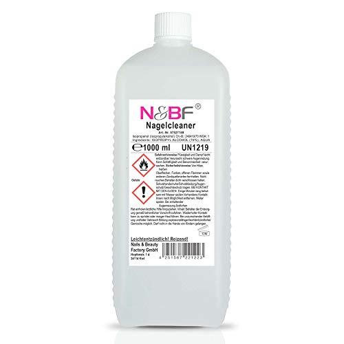 N&BF Nagel Cleaner 1000ml - Cleaner für Gelnägel - Nagelreiniger - Nail Cleaner 1 Liter - 70% Isopropanol Isopropylalkohol kosmetisch rein in Studioqualität -