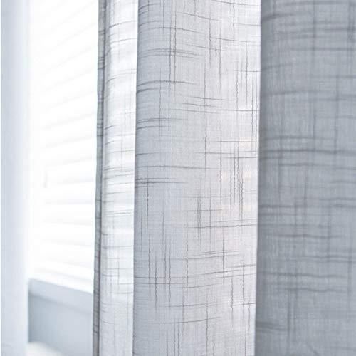 HM&DX Lino Tende Drappeggio Gancio Superiore Colore Puro Tenda Pannello Finestra Decorazione Tende Tulle Salotto Camera da Letto Grigio 300x270