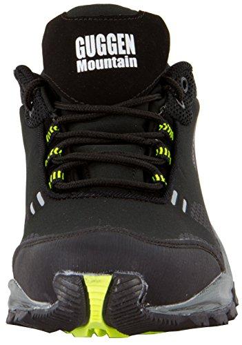 GUGGEN Mountain T001, Scarpe chiuse uomo Verde-Nero