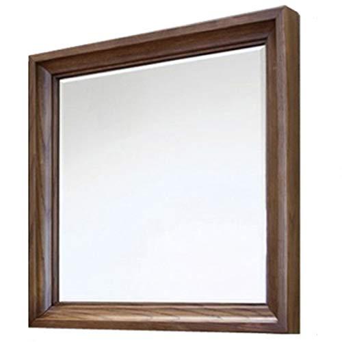 Wand abgeschrägte Spiegel gerahmt - Schlafzimmer oder Bad rechteckigen Rahmen hängt horizontale vertikale quadratische dekorative Kosmetikspiegel (43 x 43 cm) -