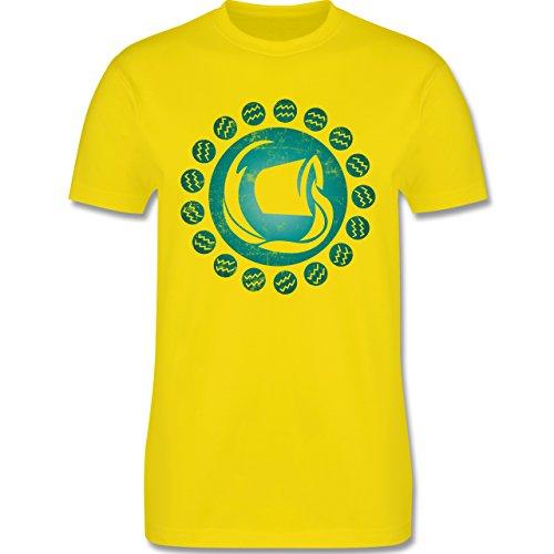 Shirtracer Symbole - Tierkreiszeichen Wassermann - Herren T-Shirt Rundhals Lemon Gelb