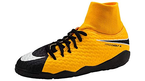 Nike Unisex-Kinder Jr. Hypervenom X Phelon 3 Dynamic Fit IC Fußballschuhe, Laser Orange/Black-White-Volt, 36 EU