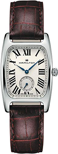 Hamilton Boulton L H13421811 - Reloj de Pulsera para Mujer, Esfera de Color Plateado y Blanco