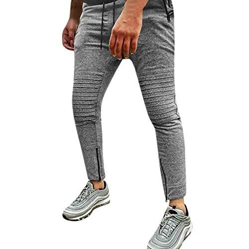 KaloryWee Hosen Herren Fashion Mens Joggers Solid Patchwork Kordelzug Jogginghose Hosen Hosen Trainingskleidung Deutscher Mann Sporthosen Junge Modisch 2019 Neu