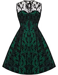 Emerald Lace Voodoo Vixen 50 s Rockabilly Vintage Cocktail Party Dress 0137dae0b