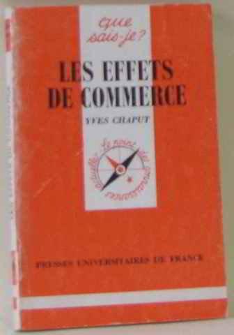 Les effets de commerce par Yves Chaput