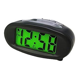 Acctim 14193 Eclipse Solar Dual Power Alarm Clock, Black