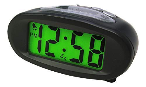 Intelligent Matin R/éveil /à Piles Horloge Num/érique Enfant Kid Sleep Blanc COOJA Digital R/éveil de Voyage Grand Chiffres