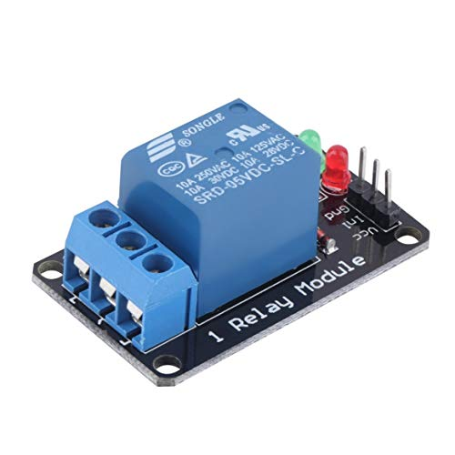 Funnyrunstore Effective Stable High Level Release Relay Module Durable 1 Channel 5V Indicator Light LED Relay Module For Arduino